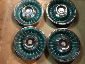 1961 Cadillac Hubcap Turquoise Wheel Covers Hubcaps