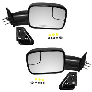 94 02 Dodge Pickup Truck Set Of Manual Side Tow 7x10 Flip Up Mirrors