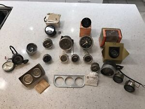 Vintage Gauges Lot Stewart Warner Sun Cryomec Sunpro Eelco Scta Hot Rod Rat Rod