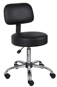 Medical Stool Chair Dental Assistant Wheeled Office Stool Seat Backrest Mechanic