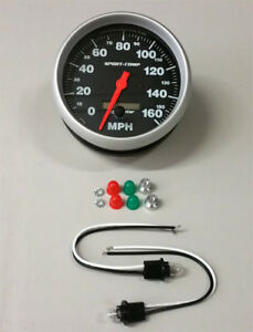 Sale Autometer Sport Comp Programmable Speedometer In Dash Speedo 5 160 Mph