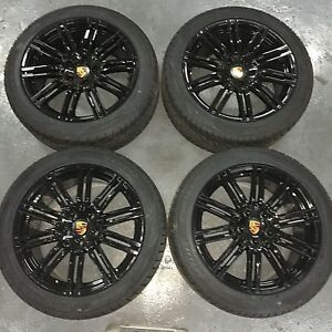 21 Porsche Cayenne S Gts Hybrid 2019 Turbo Wheels Tires Germany Glossy Black