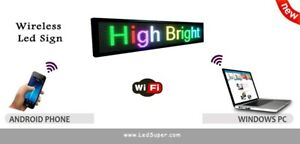 Led Sign Wireless Programmable Scrolling Message Sign 15 X 40 7 Colors