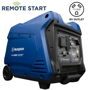 Westinghouse Inverter Generator Remote Start Power Outaget Quiet Gas Power 18hrs