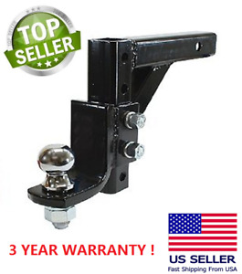 10 Adjustable Trailer Drop Hitch Ball Mount 2 Receiver With 2 5 16 Hitch Ball