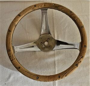 Vintage 13 5 Wood Superior Steering Wheel 60 s Ford Chevy Mopar Rat Rod