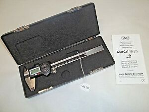 Mahr 6 Digital Machinist Calipers Reads In 0005 English And 0 01mm Germany