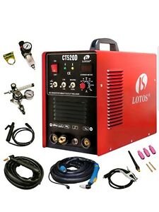 Lotos Ct520d Plasma Cutter Tig Stick Welder 3 In 1 Combo Welding Machine 50amp