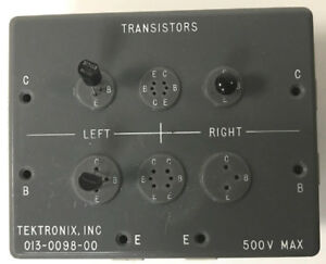 Tektronix 013 0099 00 Curve Tracer Transistor Test Fixture For 577 576