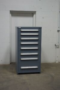 Used Lyon 8 Drawer Cabinet Industrial Tool Storage 1617 Vidmar Lista