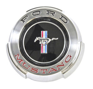 New 1965 Ford Mustang Gas Cap Chrome Twist On With Cable Made By Scott Drake