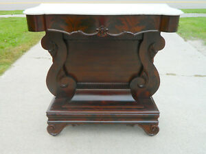 Mahogany Empire Pier Table Hall Table Console Table Circa 1840