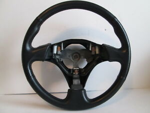02 2002 Toyota Mr2 Leather Steering Wheel 3 Spoke Black W o Cruise 72k Oem