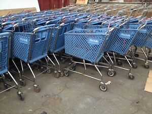 Shopping Carts Lot 10 Small Plastic Baskets Blue Mini Used Dollar Store Fixture
