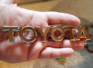 New Toyota Chrome Script Emblem Rear Trunk Badge Letters 3d Strong Self Adhesive