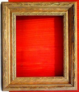 8 X 10 Standard Picture Frame 2 3 4 Wide Gold Leaf Classic Carved 1 8 Allow