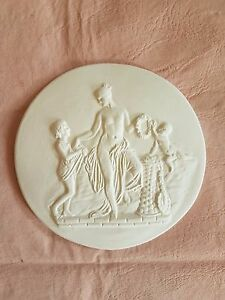 Cherub Playing Scene Grand Tour Cameo Intaglio Medallion Seal Plaster Tassie New