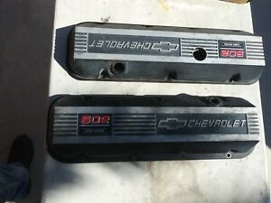 Big Block Chevy Valve Covers Finned Aluminum Bowtie 502 Crate