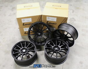 Lenso Black Project D Race 1 Wheels 17x7 5 5x114 3 Rsx Civic Ilx Mustang