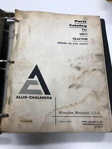 Allis chalmers Hd11 Tractor Parts Manual Catalog Prior To S n 12201