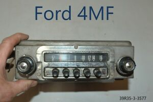 Old Ford Fomoco Classic Retro Vintage Original Car Dash Radio Made In Usa 4mf