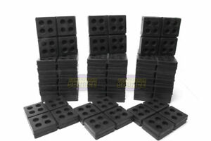 24 All Rubber Anti Vibration Pads Isolation Dampen Industrial Heavy Duty 4x4x3 4