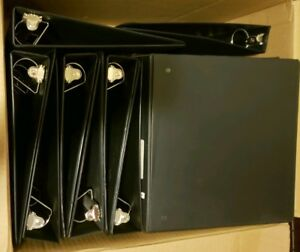 Lot Of 20 Black 3 Ring Binders Used 1 1 2 Inch And 2 Inch