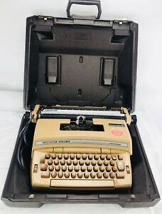 Smith Corona Coronet Super 12 Vintage Brown Typewriter With Carrying Case Tested