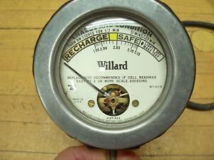 Vintage Willard Automotive Battery Charge Tester Old Service Gas Station Tool