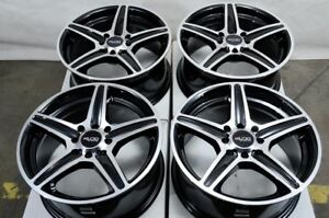 15 Wheels Honda Accord Civic Scion Xa Xb Corolla Lancer Aveo 4 Lug Black Rims
