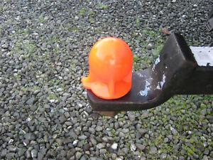 Hunter Orange Rubber Hitch Receiver Ball Cover Guard Fits 1 7 8