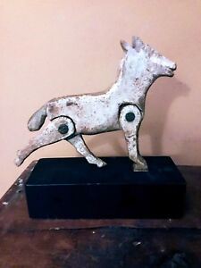Old Wood Carved Folk Art Whimsy Or Toy Of Horse With Moveable Legs Unique