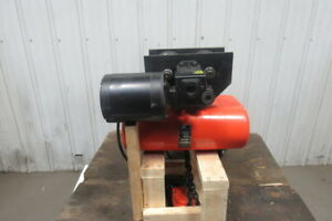 Lodestar Rr Electric Chain Hoist 2 Ton 20 lift 16fpm 635 Trolley 230 460v 3ph
