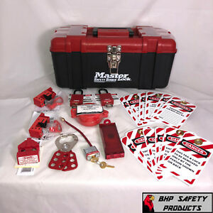 Master Lock Lockout tagout Kit With Thermoplastic Safety Padlocks