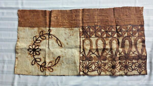 Vintage Fijian Polynesian Hawaiian Tapa Kapa Cloth Panel Very Rare 18 X 36
