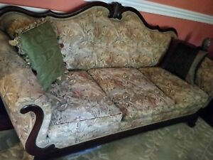 Victorian Sofa Couch Duncan Phyfe Newly Reupholstered Gorgeous Antique