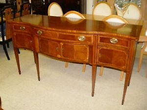 Vintage Inlaid Mahogany Sideboard Wellington Hall