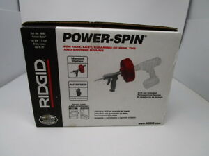 Ridgid Power spin Drain Cleaner Snake Auger Cable Tool No 88387 New In Box