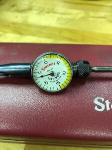 Starrett Last Word 001 Dial Indicator With Case And Attachments
