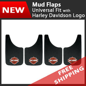 Set Of 4 Universal Fit Mud Flaps Splash Guards Harley Davidson 11 X 19