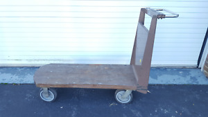 L Cart Steel Stocking Cart Heavy Duty Grocery Cart Warehouse Cart Shop Cart