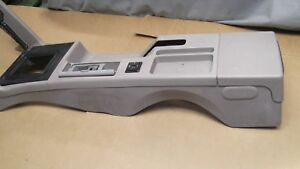 1987 93 Mustang Oem Grey Center Console Assembly With Arm Rest Delete 1991