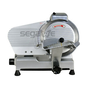 Used 10 Blade Deli Meat Slicer 240w 530rpm Food Cheese Electric Slicer