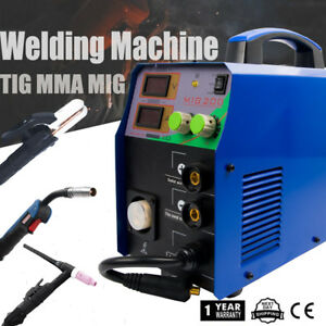 Tig Arc Mig 3 In 1 Interver Welding Welder Machine Display 220v Household