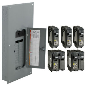 Square D 40 Circuit 20 Space 200 Amp Main Breaker Plug On Neutral Load Center