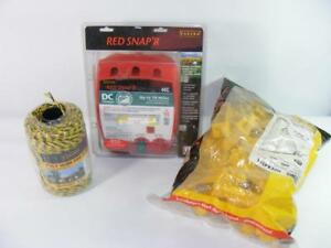 New Zareba Red Snapr 44c Battery Powered Electric Fence 5 Extenders