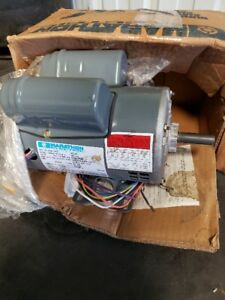 New 1 Phase 3 4 Hp Usa Made Marathon Elect Motor Double Capacitor