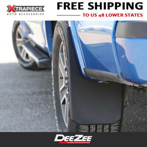 Universal Fit Mud Flaps Splash Guards Deezee Black Composite 4 Pcs Dodge Ram