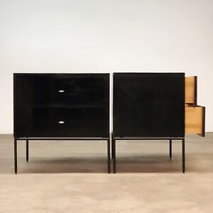 Paul Mccobb Planner Group Nightstands Iron Base Mid Century Modern