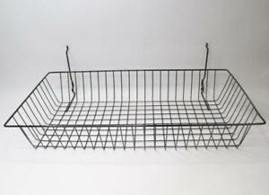 Set Of 6 Econoco Multi Fit Wire Pegboard Slatwall And Gridwall Bins And Baskets